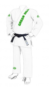 Кимоно для BJJ Pro Men 10505 Green Hill